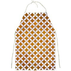 Circles3 White Marble & Yellow Grunge Full Print Aprons by trendistuff