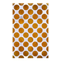 Circles2 White Marble & Yellow Grunge (r) Shower Curtain 48  X 72  (small)  by trendistuff