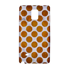Circles2 White Marble & Yellow Grunge (r) Samsung Galaxy Note 4 Hardshell Case by trendistuff