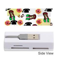 Office Girl Pattern Memory Card Reader (stick)  by snowwhitegirl