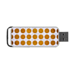 Circles1 White Marble & Yellow Grunge (r) Portable Usb Flash (one Side) by trendistuff
