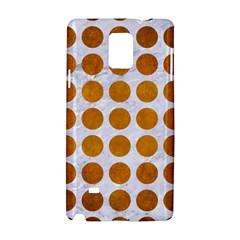 Circles1 White Marble & Yellow Grunge (r) Samsung Galaxy Note 4 Hardshell Case by trendistuff