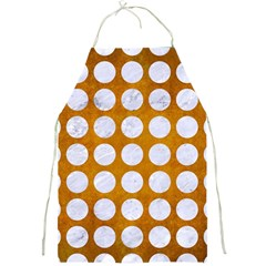 Circles1 White Marble & Yellow Grunge Full Print Aprons by trendistuff