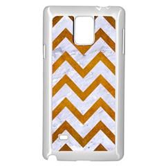 Chevron9 White Marble & Yellow Grunge (r) Samsung Galaxy Note 4 Case (white) by trendistuff