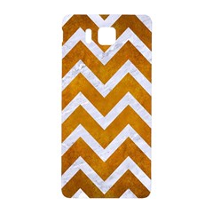 Chevron9 White Marble & Yellow Grunge Samsung Galaxy Alpha Hardshell Back Case by trendistuff