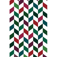Zigzag Chevron Pattern Green Red 5 5  X 8 5  Notebooks by snowwhitegirl
