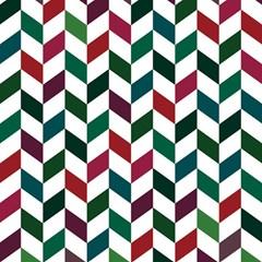 Zigzag Chevron Pattern Green Red Magic Photo Cubes by snowwhitegirl