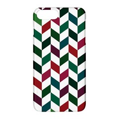 Zigzag Chevron Pattern Green Red Apple Iphone 8 Plus Hardshell Case