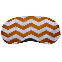 Chevron3 White Marble & Yellow Grunge Sleeping Masks by trendistuff