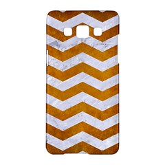 Chevron3 White Marble & Yellow Grunge Samsung Galaxy A5 Hardshell Case  by trendistuff