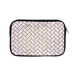 Brick2 White Marble & Yellow Grunge (r) Apple Macbook Pro 13  Zipper Case by trendistuff