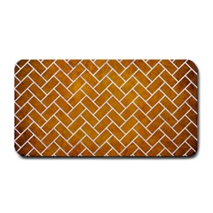 Brick2 White Marble & Yellow Grunge Medium Bar Mats by trendistuff