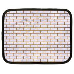 Brick1 White Marble & Yellow Grunge (r) Netbook Case (large) by trendistuff