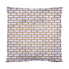 Brick1 White Marble & Yellow Grunge (r) Standard Cushion Case (two Sides) by trendistuff
