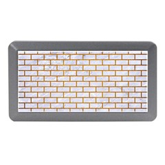 Brick1 White Marble & Yellow Grunge (r) Memory Card Reader (mini) by trendistuff