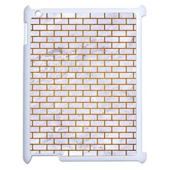 Brick1 White Marble & Yellow Grunge (r) Apple Ipad 2 Case (white) by trendistuff