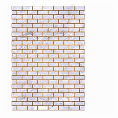 Brick1 White Marble & Yellow Grunge (r) Large Garden Flag (two Sides) by trendistuff