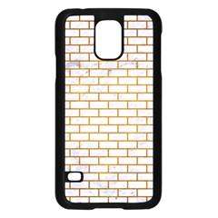Brick1 White Marble & Yellow Grunge (r) Samsung Galaxy S5 Case (black) by trendistuff