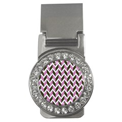 Zigzag Chevron Pattern Pink Brown Money Clips (cz)  by snowwhitegirl
