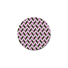 Zigzag Chevron Pattern Pink Brown Golf Ball Marker (10 Pack) by snowwhitegirl