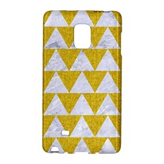 Triangle2 White Marble & Yellow Denim Galaxy Note Edge by trendistuff
