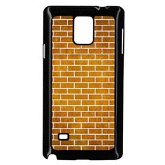 Brick1 White Marble & Yellow Grunge Samsung Galaxy Note 4 Case (black) by trendistuff