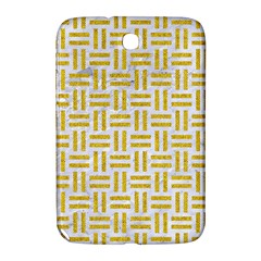 Woven1 White Marble & Yellow Denim (r) Samsung Galaxy Note 8 0 N5100 Hardshell Case  by trendistuff