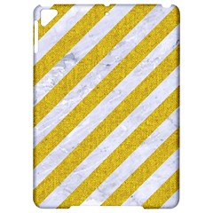 Stripes3 White Marble & Yellow Denim (r) Apple Ipad Pro 9 7   Hardshell Case