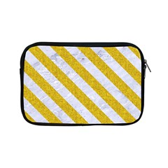 Stripes3 White Marble & Yellow Denim Apple Ipad Mini Zipper Cases by trendistuff