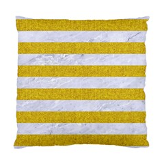 Stripes2white Marble & Yellow Denim Standard Cushion Case (one Side) by trendistuff