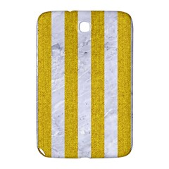 Stripes1 White Marble & Yellow Denim Samsung Galaxy Note 8 0 N5100 Hardshell Case  by trendistuff
