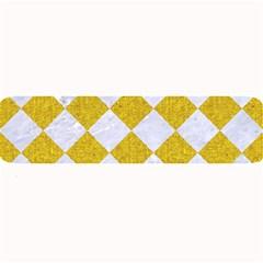 Square2 White Marble & Yellow Denim Large Bar Mats by trendistuff