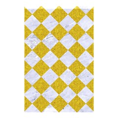 Square2 White Marble & Yellow Denim Shower Curtain 48  X 72  (small)  by trendistuff