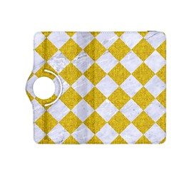Square2 White Marble & Yellow Denim Kindle Fire Hdx 8 9  Flip 360 Case by trendistuff