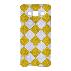 Square2 White Marble & Yellow Denim Samsung Galaxy A5 Hardshell Case  by trendistuff
