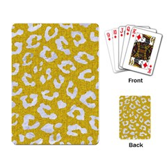 Skin5 White Marble & Yellow Denim (r) Playing Card by trendistuff
