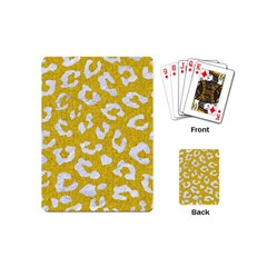 Skin5 White Marble & Yellow Denim (r) Playing Cards (mini)  by trendistuff