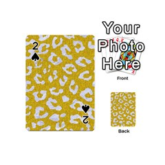 Skin5 White Marble & Yellow Denim (r) Playing Cards 54 (mini)  by trendistuff