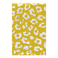 Skin5 White Marble & Yellow Denim (r) Shower Curtain 48  X 72  (small)  by trendistuff