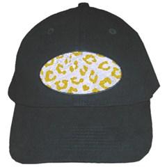 Skin5 White Marble & Yellow Denim Black Cap by trendistuff