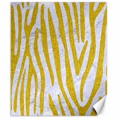 Skin4 White Marble & Yellow Denim Canvas 20  X 24   by trendistuff