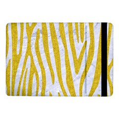 Skin4 White Marble & Yellow Denim Samsung Galaxy Tab Pro 10 1  Flip Case by trendistuff
