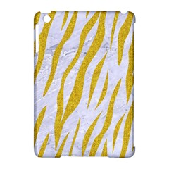 Skin3 White Marble & Yellow Denim (r) Apple Ipad Mini Hardshell Case (compatible With Smart Cover) by trendistuff