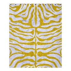Skin2 White Marble & Yellow Denim (r) Shower Curtain 60  X 72  (medium)  by trendistuff