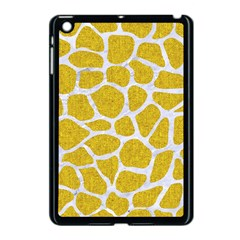 Skin1 White Marble & Yellow Denim (r) Apple Ipad Mini Case (black) by trendistuff