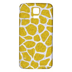 Skin1 White Marble & Yellow Denim (r) Samsung Galaxy S5 Back Case (white) by trendistuff