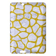 Skin1 White Marble & Yellow Denim Kindle Fire Hdx Hardshell Case by trendistuff