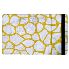 Skin1 White Marble & Yellow Denim Apple Ipad Pro 9 7   Flip Case by trendistuff