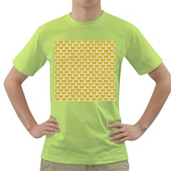 Scales3 White Marble & Yellow Denim Green T Shirt