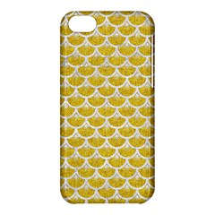 Scales3 White Marble & Yellow Denim Apple Iphone 5c Hardshell Case by trendistuff